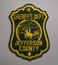 Vintage Jefferson County Colorado Sheriff's Dept. Shoulder Patch Embroidered