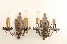 Matching Pair Antique Decorative Wall Sconce Light Fixtures