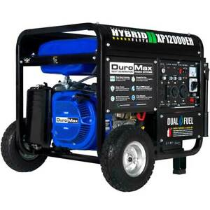 DuroMax XP12000EH 12,000-Watt 457cc Portable Hybrid Gas Propane Generator