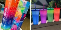 MANNA 12 Pack Color Changing Reusable Tumblers w/ Lids & Straw Set - 24oz 710mL