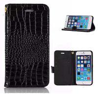 Genuine Crocodile Leather Wallet Flip Case Cover for Apple iPhone 5s SE 6 6Plus