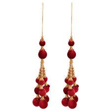 India Craft Red TasselHanging Tassel Blouse Saree Accessories Latkan