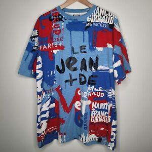 Vintage Marithe Francois Girbaud All Over Print Hip Hop Rap Shirt Men's XL