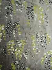 "HARLEQUIN CURTAIN FABRIC DESIGN ""Iola"" 2.6 METRES 100% SILK COFFEE CHARCOAL"