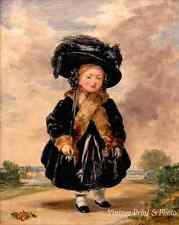 Queen Victoria as a Child Aged 4 by Stephen P Denning  8x10 Print 1014