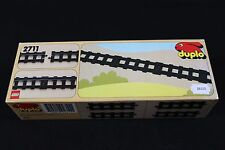 ZB213 LEGO Duplo train boite 2711 rail droite 4 eléments 1990 Lg 70 cm