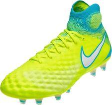 Nike Magista Obra II FG Flyknit ACC Black Soccer Cleats Sz 5.5 NEW 844205 400
