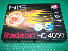 Neues AngebotBoxed HIS ATI Radeon hd4650 1gb ddr3 AGP DVI/VGA/HDMI Grafikkarte