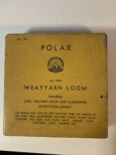 Vintage Polar Knit Weaving Loom in Original Box with Instructions & Hook