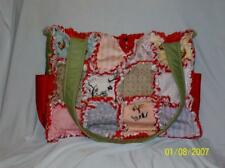 MODA Hushabye Hollow Pink Blue, Green Handcrafted Rag Quilt DiaperBag Tote Purse