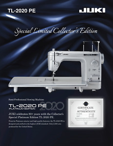 JUKI TL-2020 PE Platinum Edition Sewing & Quilting Machine Authorized Dealer
