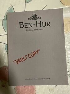 BEN-HUR ORIGINAL TURNER ENTERTAINMENT FILM SCRIPT (CHARLTON HESTON) (BEN HUR)