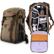New Theftproof Military DSLR Camera Shoulder Bag Cool Backpack For Canon & Nikon