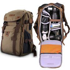 NEW Retro Canvas Theftproof Rucksack DSLR Camera Bag Backpacks For Canon & Nikon