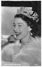 Her Majesty The Queen Elizabeth II Crowned, Earrings, Necklace, Fur Coat, Car