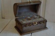 Wedding  Ring Bearer Box, Ring Box Holder, Wooden jewelry box. Rustic Box New