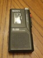 SONY M-430 VOICE OPERATED MICROCASSETTE RECORDER With Tapes For Parts Or Repair