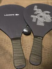LACOSTE Keith Haring collaboration Novelty Wooden Rackets Ball Set Used Rare F/S
