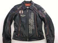 HARLEY DAVIDSON WOMEN'S COASTLINE MOTORCYCLE LEATHER JACKET SMALL 97170-07VW