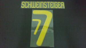 SCHWEINSTEIGER #7 Germany Away World Cup 2010 Gold Color Name Set