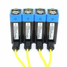 New technology! etinesan 4pcs 9v LITHIUM rechargeable li-po battery+USB Cable