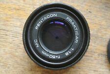 Pentacon Prakticar MC 50mm 1:1.8   Praktica B mount Lens