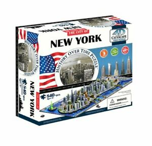 4D New York City Skyline Time Puzzle History Over Time Cityscape 840pcs
