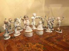 12 Vintage Porcelain German Wonderful Cherub Angel Figurines