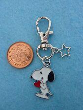 Snoopy Heart Keyring Enamel Bag Charm Birthday Gift/Present Bag Fillers # 26