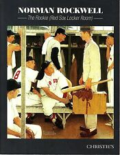 Christie's May 22 2014 NY Norman Rockwell The Rookie (Red Sox Locker Room)