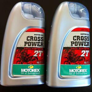 Motorex Cross Power 2T Fully Synthetic engine oil 2 bottles