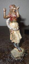 Statuette régule polychrome Andalouse Gitane aux castagnettes XIXe