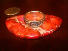 Vintage Celtic Sterling Silver Ring.925 (Sz-7)
