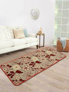 Maroon 1 Pc, Tufted Jacquard Kitchen/Bed Side Runner Of 45 x 120 cms Soft Cotton