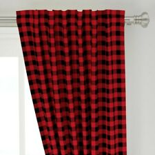 """Buffalo Check Plaid Plaids Checks Bufffalo 50"""" Wide Curtain Panel by Roostery"""
