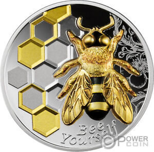 BEE YOURSELF Always 1 Oz Silver Coin 1000 Francs Cameroon 2021