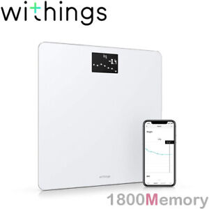 GENUINE Withings Nokia Body Weight & BMI Wi-Fi Smart Scale Up to 8 Users White