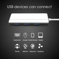 4-Port USB 3.0 Ultra Slim Compact Data Hub USB-A HUB for Macbook Pro/mini