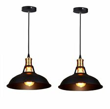 2 Pcs Pendant Lighting Lamp Shades Industrial Bar Ceiling Light Kitch Home Lamp