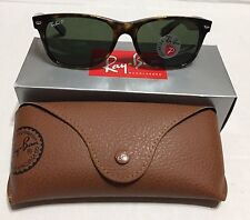 New RAY BAN WAYFARER RB2132 902/58 58mm Tortoise  Polarized Green 100%Authentic