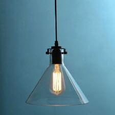 European Style Clear Glass Funnel Pendant Ceiling Lamp Restoration Light Fixture