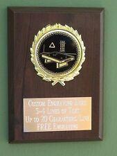 Billiards/Pool/8-Ball Award Plaque 4x6 Trophy FREE engraving