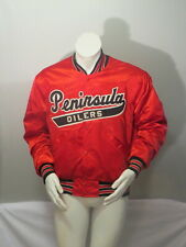 Peninsula Oilers Jacket (VTG) - Satin Jacket by DeLong - Size Large