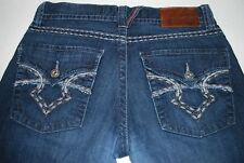Big Star Buckle ORION Slim Bootcut Low Rise 32R Mens Jeans Button Flap Pockets