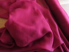 John Lewis 100% SILK Smooth Chiffon -RED WINE- 135cm Wide - £10 per M - Free P&P