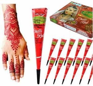 Instant Chilli Red Henna Mehandi Cones By Vimal's Sehnaaz Golecha Henna