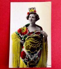 CPA. 1926. Carte Espagnole. Femme Élégante  Mode. Robe. Malaga.