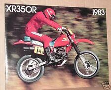 1983 Honda XR350 R Motorcycle Sales Brochure - Literature