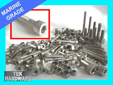 A4 (316) Marine Grade Stainless Steel Allen Bolts Nuts Washers 200 Mixed Pack