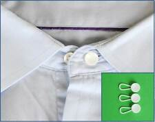 3 Plastic Shirt Collar Cuff Extender Extension Neck Size Button Lengthen Extend